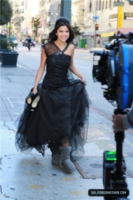 Selena Shooting musik video 2011