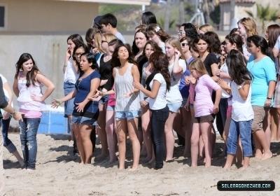 Selena Shooting music video 2011