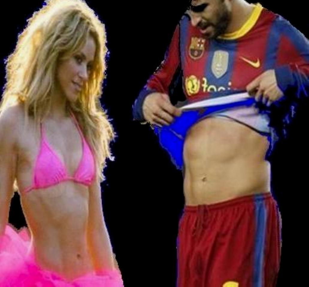 Shakira and Piqué body to body