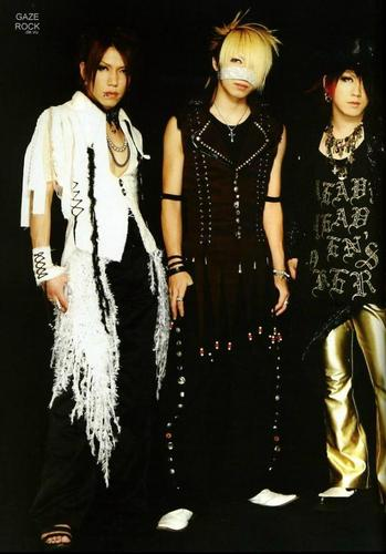 Reita, Aoi and Ruki