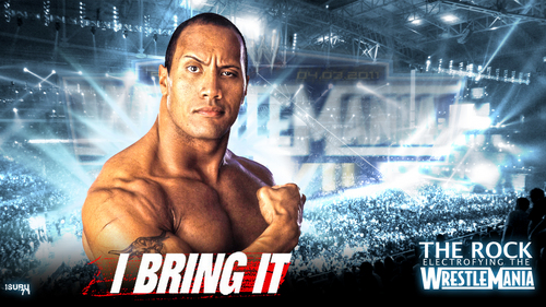 WWE Hintergrund probably with Anime entitled The Rock