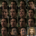 The many adorable faces of Josh!! And...Sammy in Caveman:)