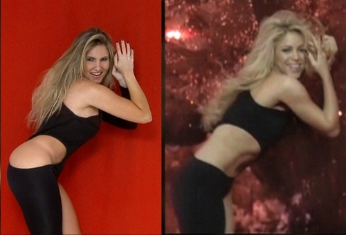 Thick girl is hotter than Shakira !