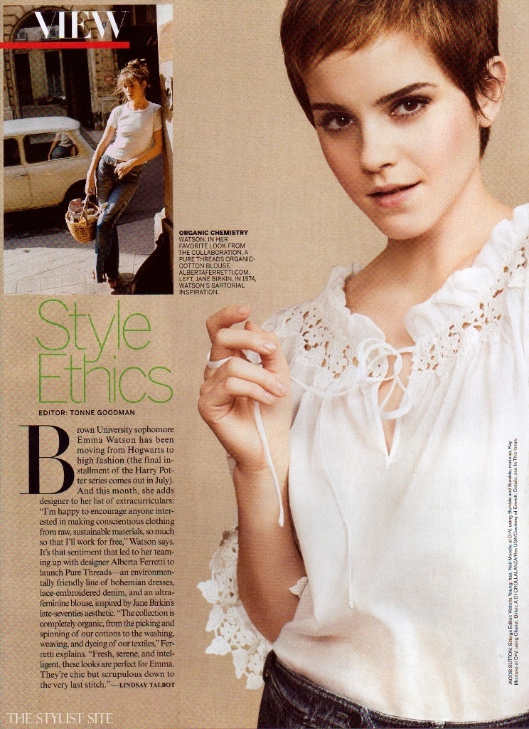 emma watson vogue us july 2011. hot Vogue US July 2011 emma