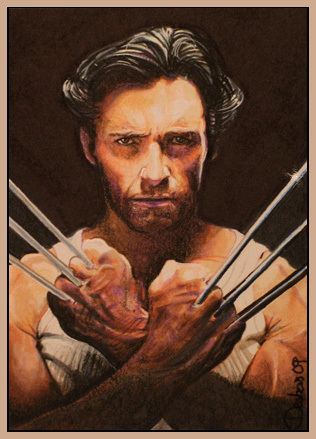 Hugh Jackman as Wolverine wolpeyper possibly with anime titled Wolverine