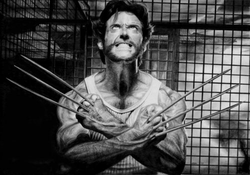 Hugh Jackman as Wolverine वॉलपेपर probably with a holding cell entitled Wolverine