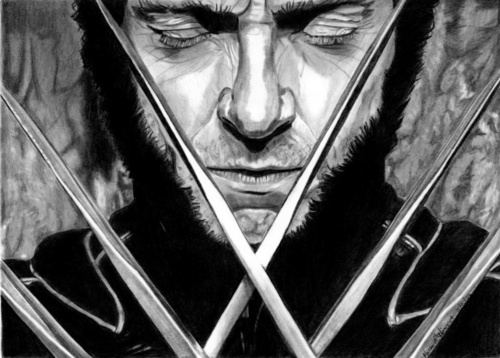 Hugh Jackman as Wolverine wolpeyper entitled Wolverine