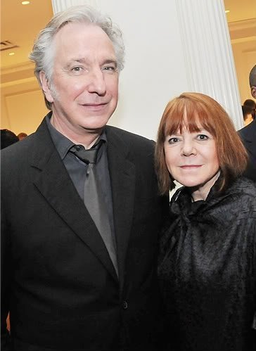 Alan Rickman wallpaper containing a business suit called alan rickman and rima horton