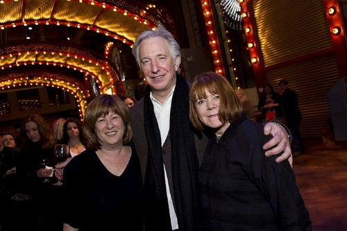 alan rickman , rima horton and friend
