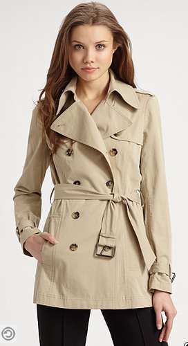 polyvore clippingg♥ wallpaper with a trench coat and a burberry called cropped trench coat