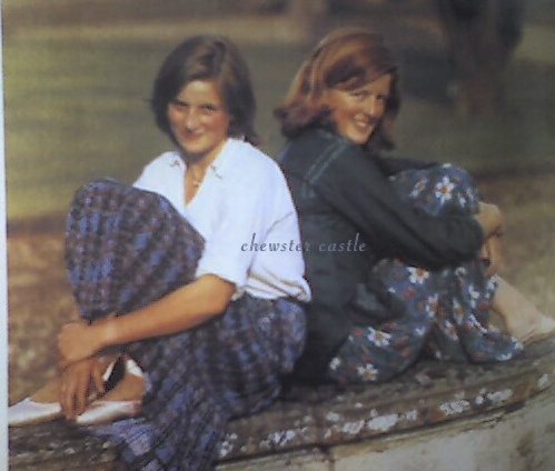 Princess Diana wallpaper probably containing a sign, a street, and an outerwear titled diana and her sister
