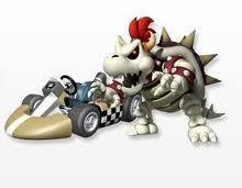 dry bowser on mario kart wii