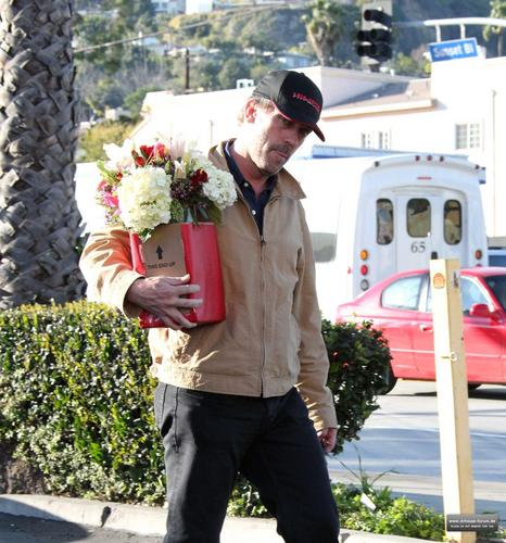 hugh laurie buying bulaklak in los angeles, February 14, 2011