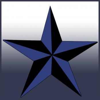 nautical 별, 스타 (two toned star)
