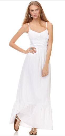 white ম্যাক্সি dress