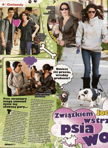 Ashley and Joe in 'Bravo' magazine! (February 2011).