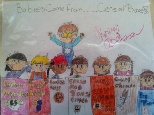 Babys Come From...Cereal Boxes!
