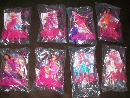 Barbie: A Fairy Secret - Happy Meal Toys from McDonald's (complete set)