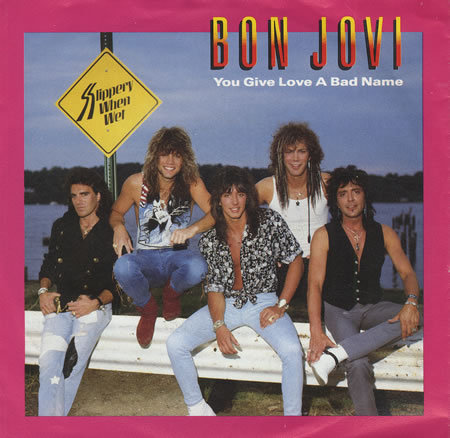 The 80s wallpaper possibly containing anime titled Bon Jovi