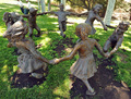 Children statues by Neverland house