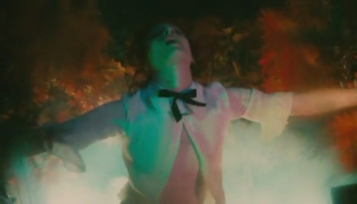 Florence + The Machine wallpaper probably containing a fire and a concert entitled Cosmic Love [Music Video]