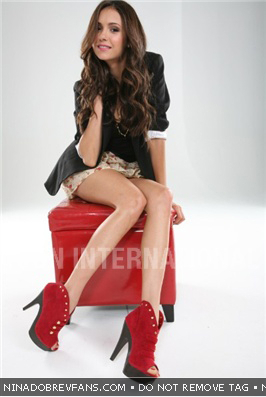 Nina Dobrev wallpaper with bare legs and tights called Dean Foreman Photoshoot Outtakes (November/December 2010).
