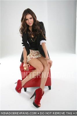Nina Dobrev wallpaper possibly with bare legs, hosiery, and a stocking entitled Dean Foreman Photoshoot Outtakes (November/December 2010).
