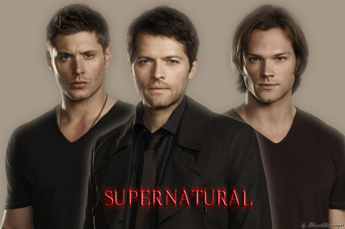Supernatural wolpeyper possibly with a portrait called Dean, Sam and Castiel