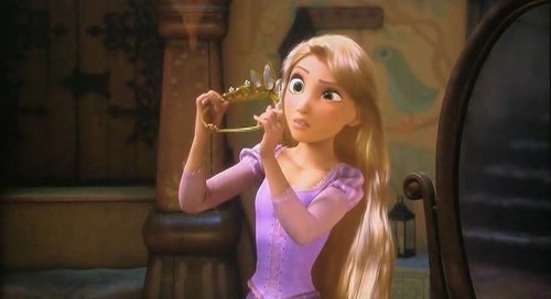 Disney's Rapunzel wallpaper possibly containing a leotard, a bustier, and tights titled Disney Tangled Presents - RAPUNZEL