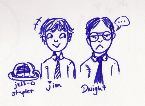 Dwight Schrute and Jim Halpert 팬 art