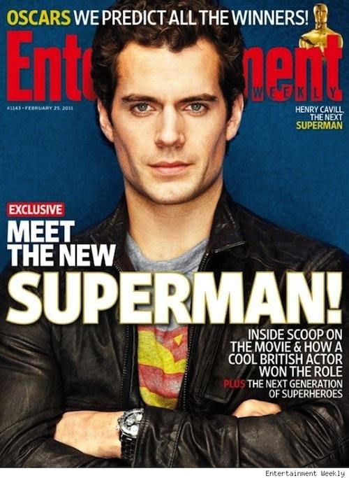 henry cavill superman pics. EW Superman issue