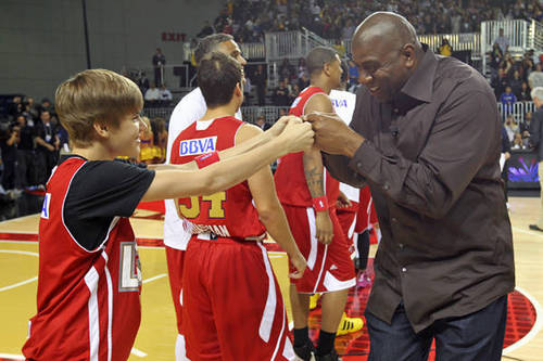 Fist Bump With Magic Johnson