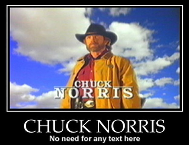Funny claims..Chuck Norris xD