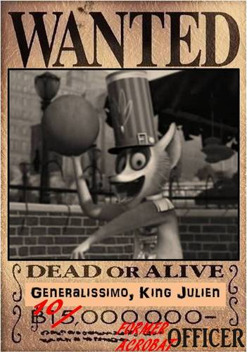 GENERALISSIMO, KING JULIEN [dead или alive poster]