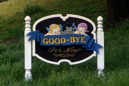 Goodbye Sign at Neverland