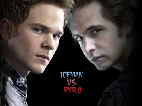 X-men THE MOVIE wallpaper with a portrait called Iceman vs Pyro