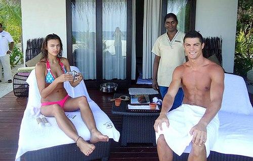 Irina and Cristiano hot
