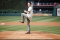 Jackson Rathbone throws out a pitch at a Phillies game - twilight-series photo