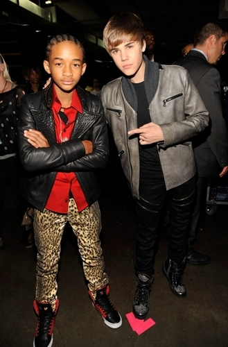 Jaden & Justin at the grammys (2011)