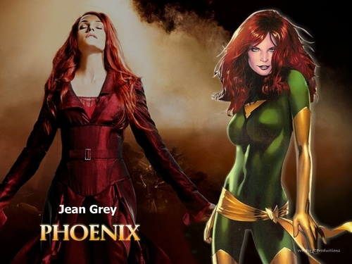 X-men THE MOVIE wallpaper probably with a dinner dress, a gown, and a tea gown titled Jean Grey