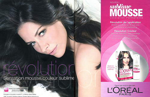 L'Oréal Sublime Mousse photoshoot