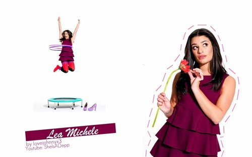 Lea Michele দেওয়ালপত্র possibly containing a ককটেল dress, a dress, and a ফ্রক called Lea Michele <3