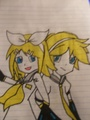 Len and Rin Drawing - vocaloid fan art