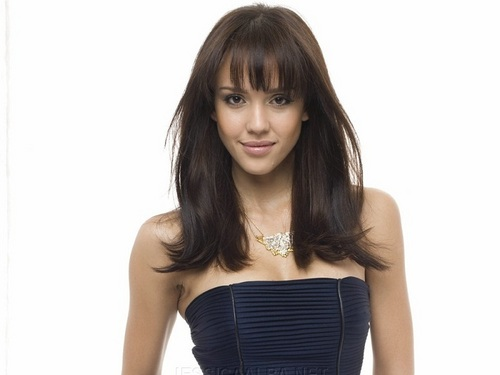 Jessica Alba wallpaper possibly containing a bustier, a cocktail dress, and attractiveness titled Lovely Jessica Wallpaper ❤