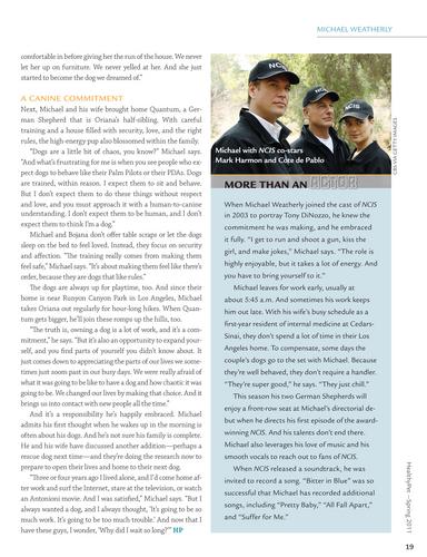 Michael Weatherly Healthypet Magazine