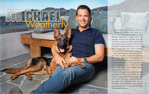 Michael Weatherly Healthypet Magazine