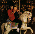 Michael and Prince on the Carrousel - neverland-valley-ranch photo