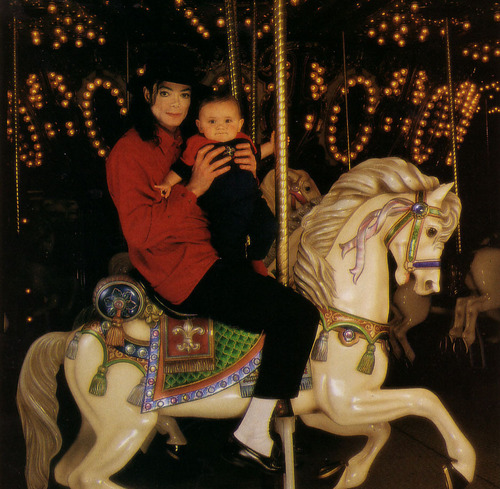 Michael and Prince on the Carrousel
