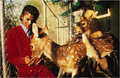 Michael at Neverland with deer