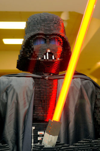 Michael's life size lego Darth Vader